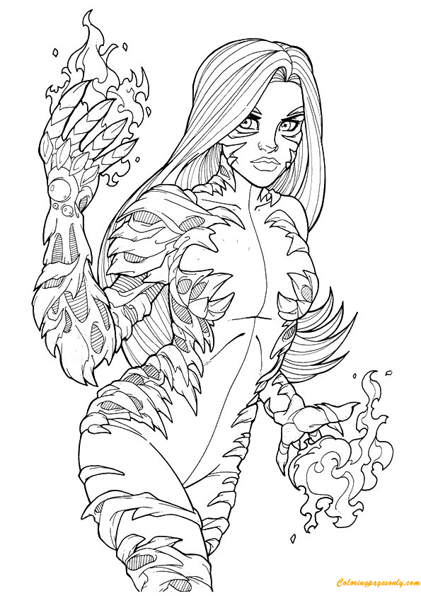 Tigra Avengers Coloring Page Free Coloring Pages Online