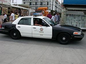 "The famous ""black and white"" LAPD po..."