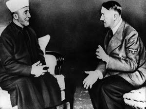 Il Mufti di Gerusalemme Haj Amin Al-Husseini, dopo la sua fuga dalla Palestina per sfuggire all'arresto da parte dell'esercito britannico, divenne alleato di Hitler
