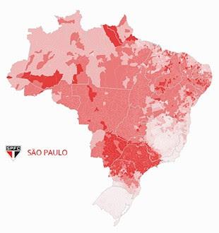 Mapa São Paulo (Foto: GloboEsporte.com)