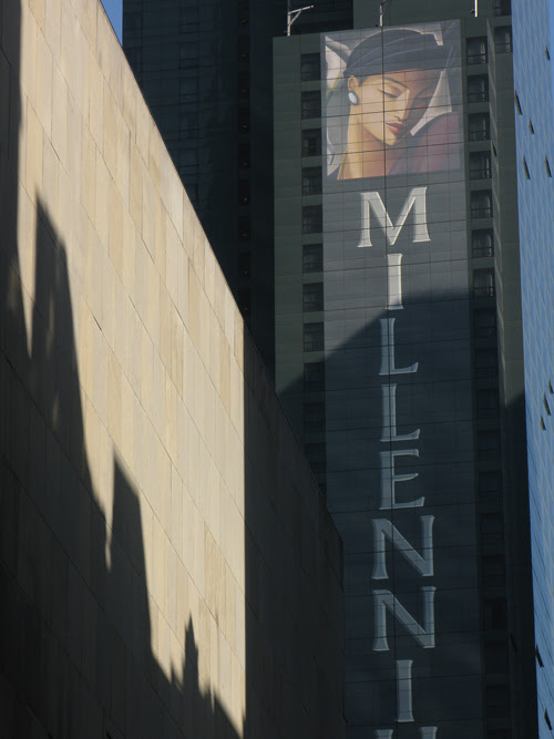 shadows and signage in midtown Manhattan, NYC
