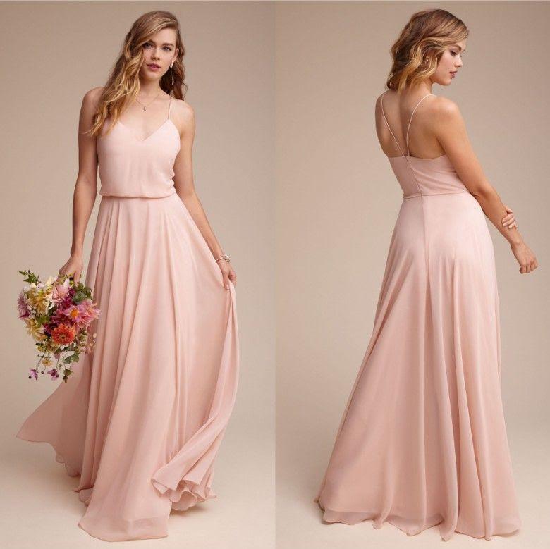 cheap simple chiffon summer bridesmaid dresses 2017 new
