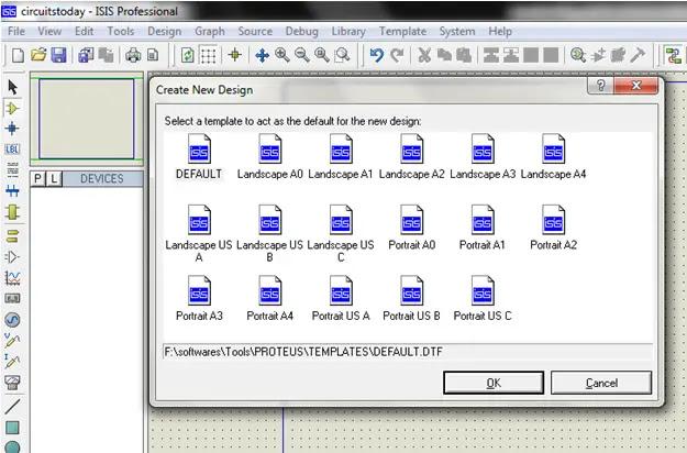 Proteus Default Template Select