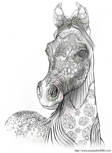 ausmalbilder pferdekopf mandala