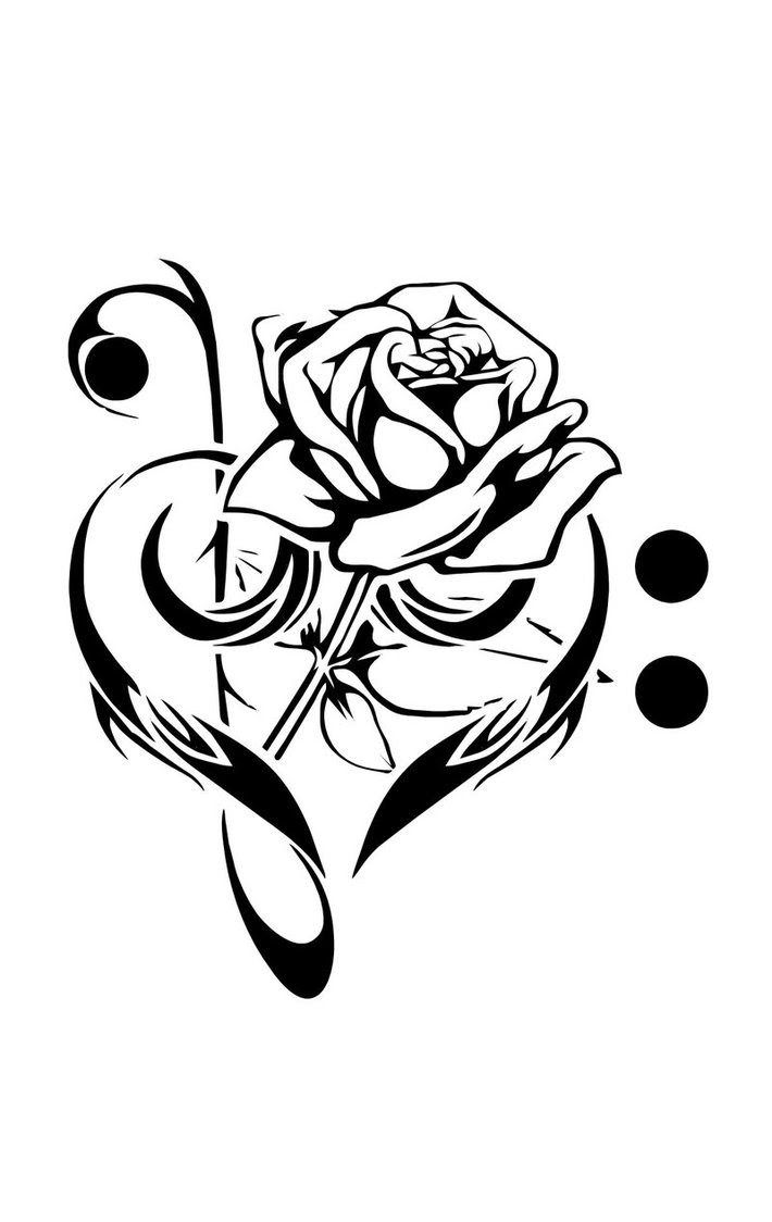 Music Rose And Love Tattoos Tattoomagz