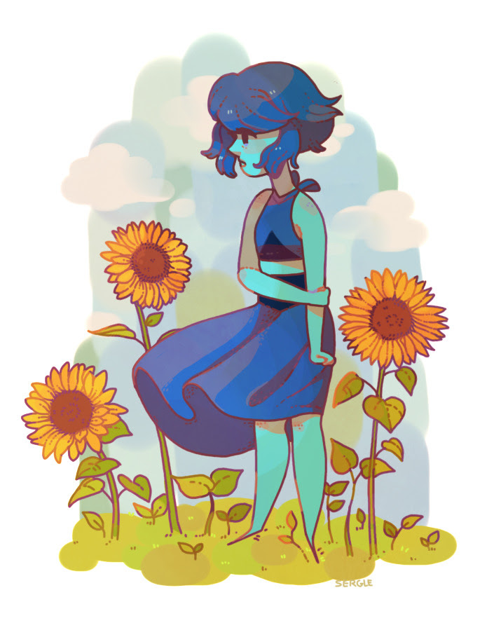 you punish people for your own pain, but you're trying not to do that anymore. felt like giving my tablet a time-out today, making sunflower seems to be my default when it comes to same-thickness...