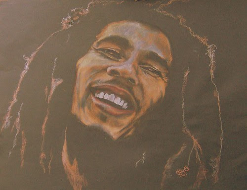 Bob Marley ~ Medium Pastels and Oil pastels