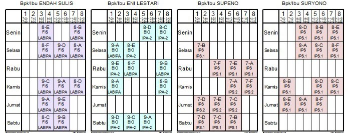 Cara Membuat Jadwal Pelajaran Otomatis Dengan Excel ...