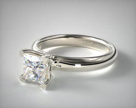 Contour Engagement Ring   14K White Gold   James Allen