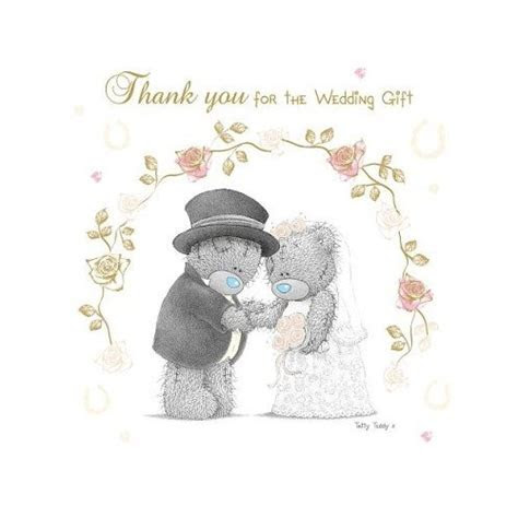 Me to You Thank You for the Wedding Gift   2012 Design
