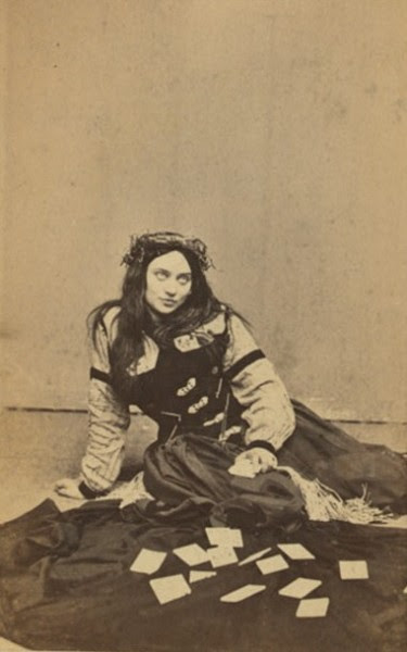 dirtworshipingypsy:  fortune teller. early 1870s