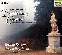 Martin Pearlman conducts the Boston Baroque (Telarc LP cover)