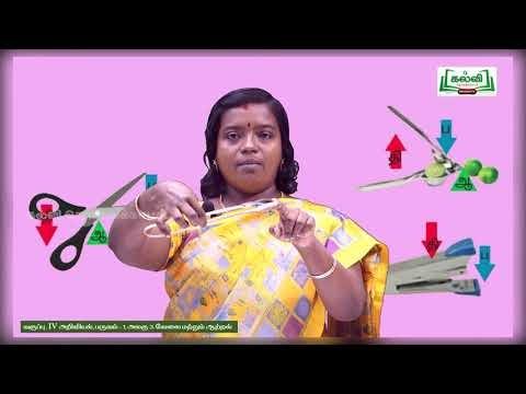 4th Science வேலை மற்றும் ஆற்றல்  நெம்புகோலின் வகைகள் அலகு 3  பகுதி3 Kalvi TV