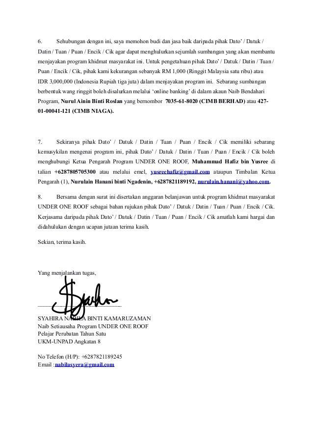 contoh surat memohon sumbangan program flea taiwanhill