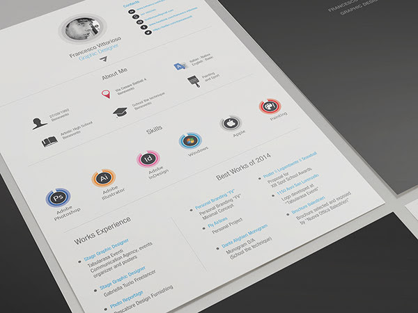 Free Personal Adobe Indesign Resume 2