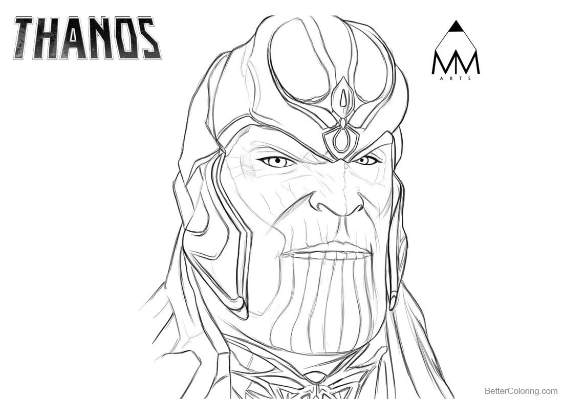 Thanos Coloring Pages by Mustafa Munir Arts on Twitter