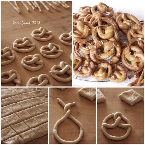 making crunchy pretzels