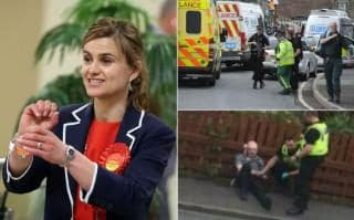Labour Mp jo cox has been shot and stabbed by a 52 year old man and is in critical condition