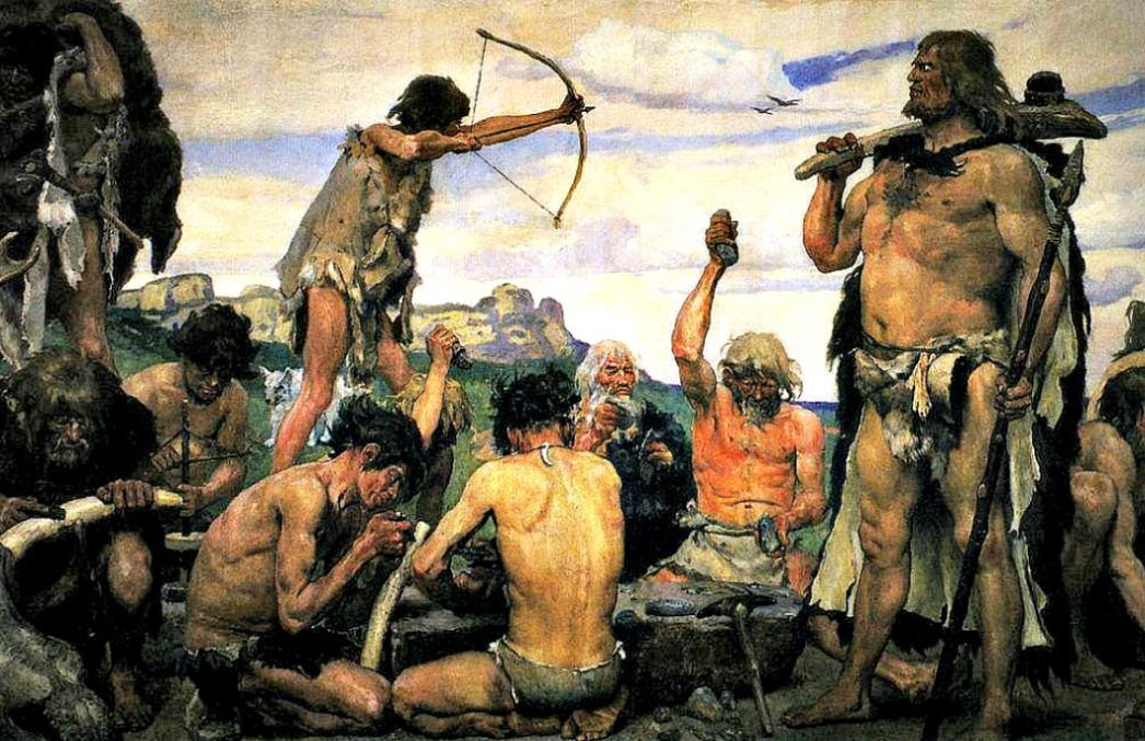 'The Stone Age' (1882-1885), detail of a painting by Viktor M. Vasnetsov.