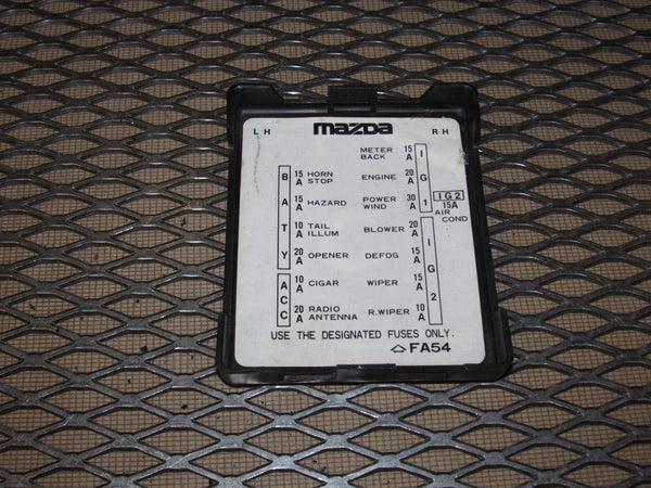 Rx7 Fuse Panel Diagram Wiring Diagram Dedicated Dedicated Pasticceriagele It