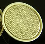Art Deco honeycomb cufflinks. (J9366)