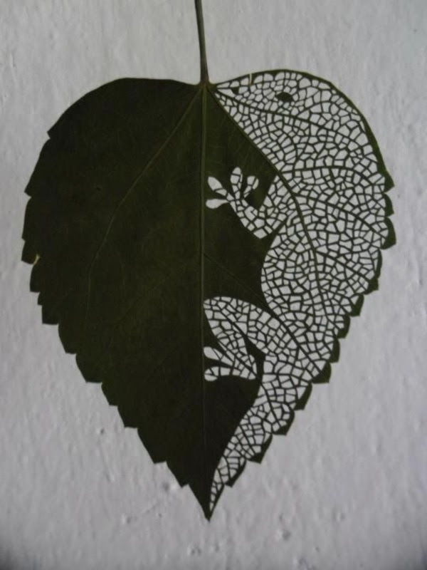 40 Mildly Interesting Leaf Art Installations - Bored Art