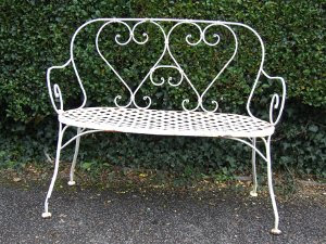 Vintage French Garden Bench - La Belle Étoffe