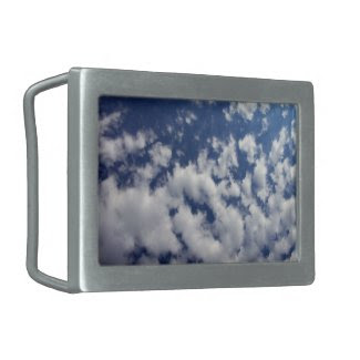 Puffy Clouds On Blue Sky Belt Buckle