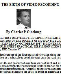 Image result for Charles P Ginsburg VTR