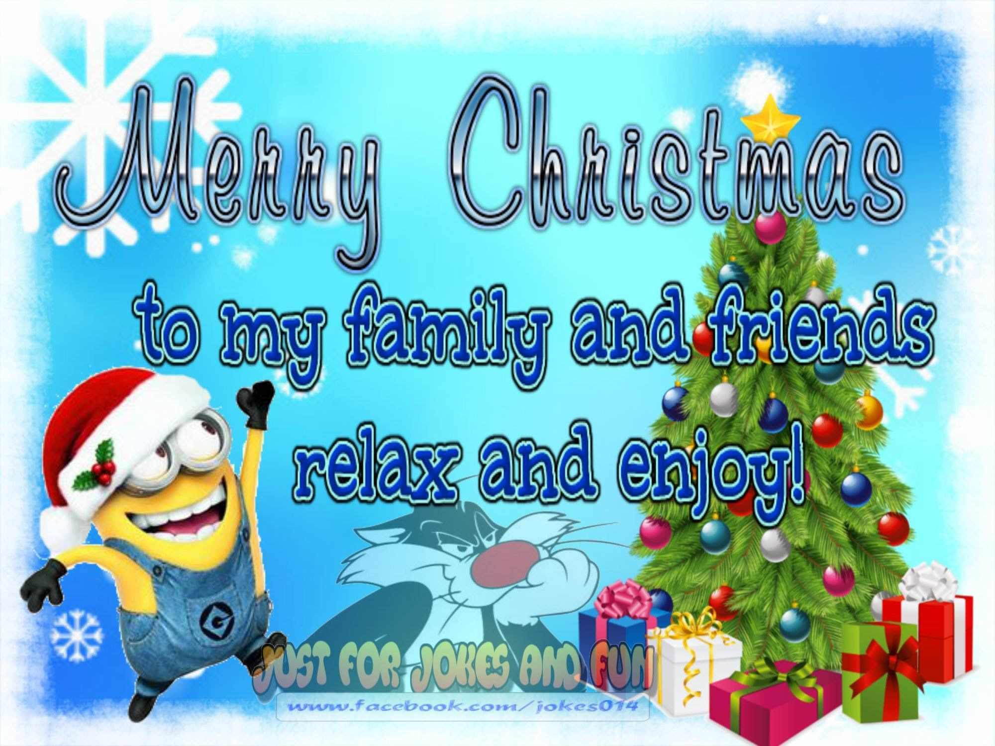 Merry Christmas To My Family And Friends Minion Quote Pictures