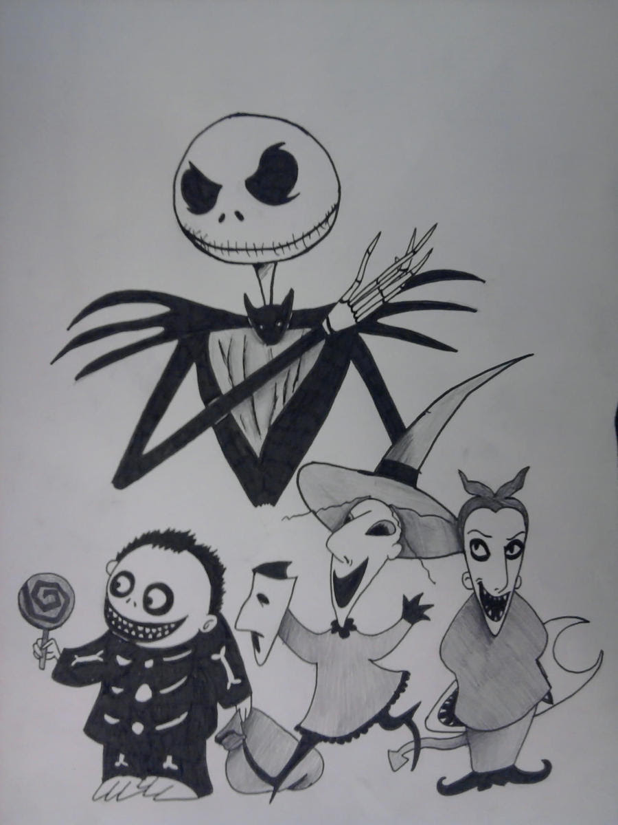 Pictures Of Nightmare Before Christmas Characters Jack Drawings