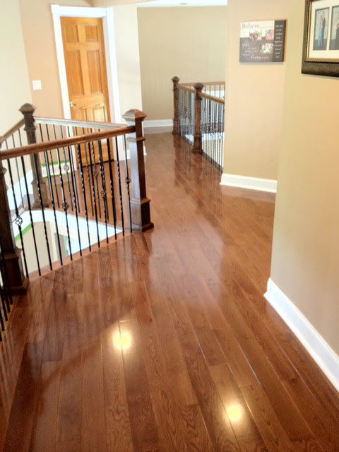 Red Oak with Warm Walnut Stain - Traditional - Hall ...