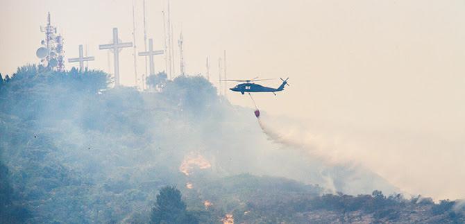 Consejo del Riesgo y organismos de socorro atendieron incendio en el cerro de las Tres Cruces
