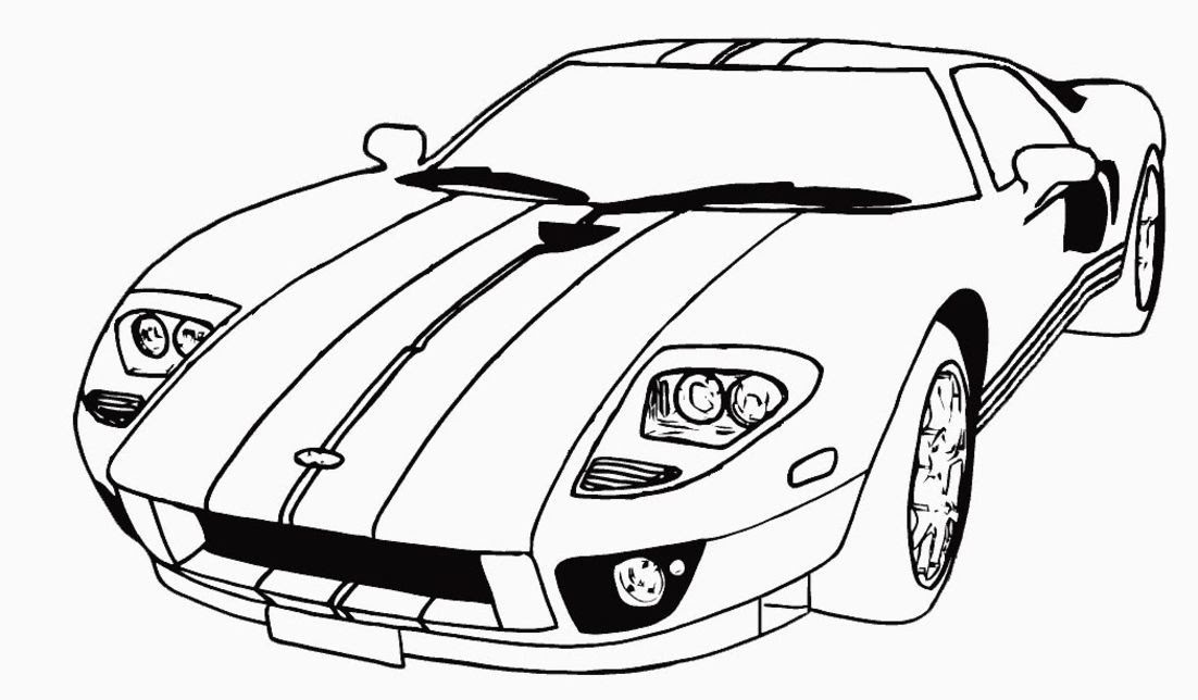 Coloring For Kids Cars Hd Football