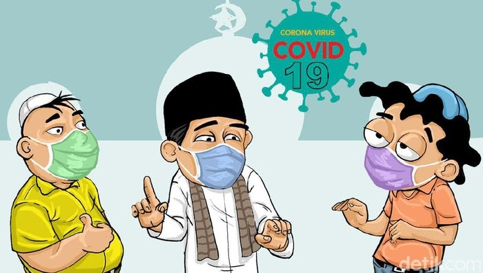 Gambar Kartun Pake Masker - Infografis Alasan Anak Anak ...