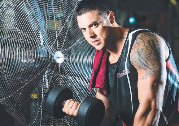 Nightcliff Fitness Works gym owner Seann Scheppard says his power costs have shot up in the past quarter