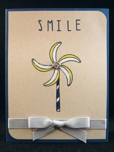 Pinwheel Smile Card