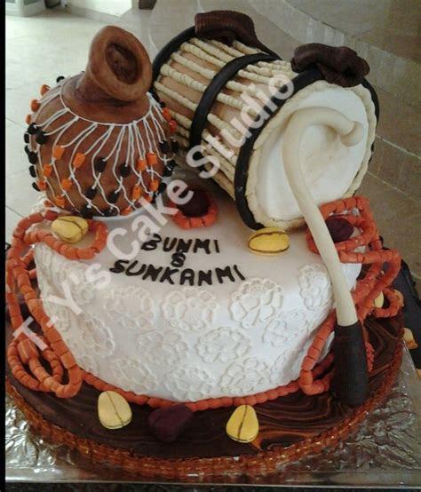 Yoruba Traditional Wedding Cake Talking Drum Is Vanilla