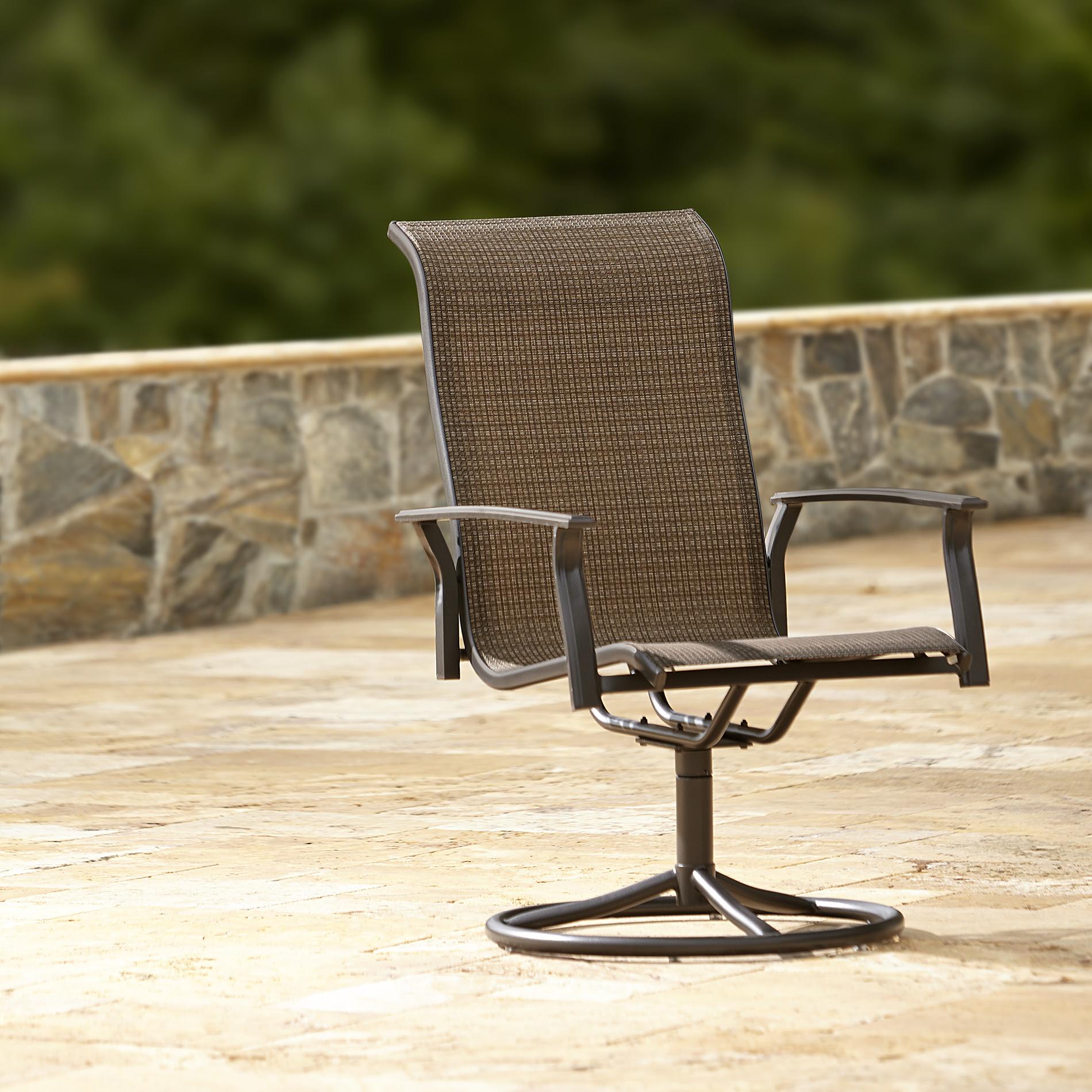 Garden Oasis Harrison 1pk Swivel Patio Dining Chair ...