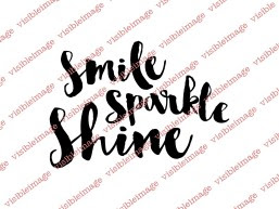 Visible Image Smile Sparkle Shine sentiment stamp