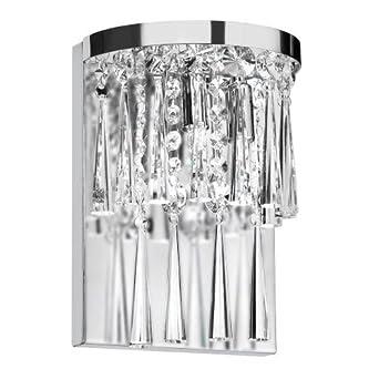 Dainolite JOS-7-2W 2-Light Crystal Wall Sconce, Polished Chrome ...