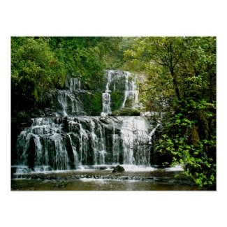 Purakaunui Falls, New Zealand print