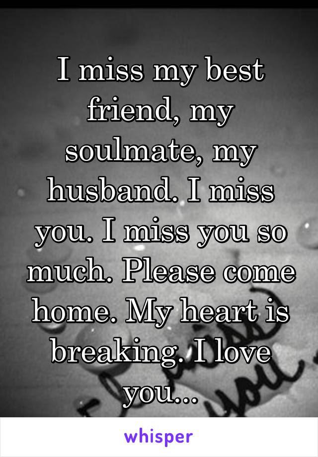 I Miss My Best Friend My Soulmate My Husband I Miss You I Miss