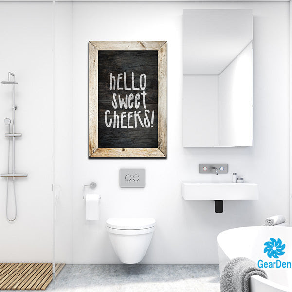 Hello Sweet Cheeks Premium Bathroom Canvas