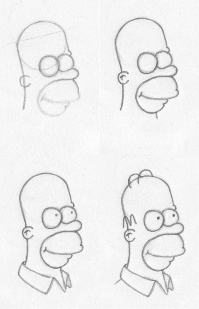 Como Dibujar A Los Simpsons Paso A Paso Arte En Taringa