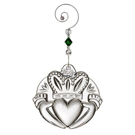 Waterford Crystal Claddagh Ornament 2017   Christmas Ornament