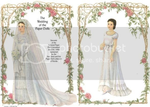 Papermau wedding dress up paper dolls by helen page for Anime wedding dress up games