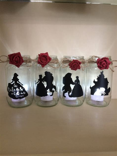 beauty and the beast lantern jar belle Disney ideal for