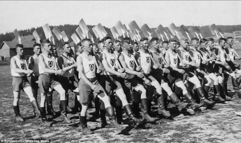From 1935, all young men, aged between 18 and 25 had to         complete six months training with the Reich's Labour Service -         which was essentially a form of military training. Those         involved were employed on major public infrastructure projects         where they received pocket money - but no pay. Works completed         by the labour service included the new autobahns
