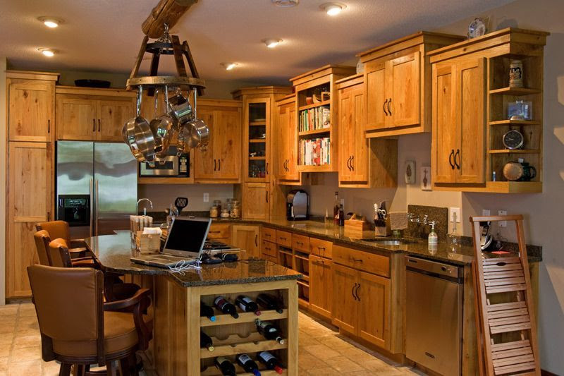 Rustic-Pine-Kitchen-Cabinets – Rustic Kitchen Cabinets: Another ...
